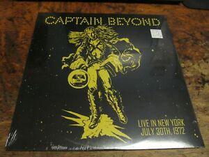 CAPTAIN BEYOND Live In New York July 30th, 1972 LP #259 Yellow VINYL Record NEW
