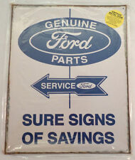 Genuine Ford Parts Service Advertisement Metal Bar Sign Man Cave