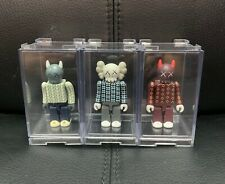 Medicom KAWS Kubrick Bearbrick Figure Toy 3Pcs with Display Boxes