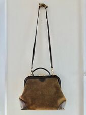 Borbonese Redwall Vintage Leather Hand Shoulder Bag .