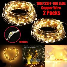 2X 10M/33FT Warm White 100LEDs String Fairy Lights Home Bedroom Party Decoration