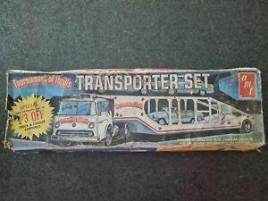 AMT Tournament Of Thrills Transporter Set Ford C-900 Truck/Trailer Kit vintage