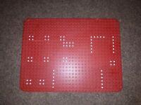 Lego Bauplatte Grundplatte Set 358 Rocket Base 10p03 Raketenbasis Rot