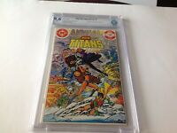 NEW TEEN TITANS ANNUAL 1 CBCS 9.6 WHITE PAGES BLACKFIRE DC COMICS LIKE CGC