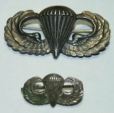 WW2 US Army Airborne Paratrooper Jump wings Badge Pin Sterling Lot b5