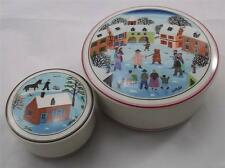 Villeroy & and Boch CHRISTMAS WINTER NAIF LAPLAU 2 x trinket pots