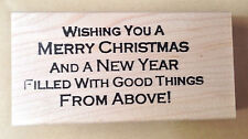 Mounted Rubber Stamps, Stamp, Christmas Saying, Merry Christmas & Happy New Year