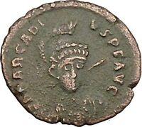 Arcadius facing RARE 401AD Ancient Roman Coin Constantinopolis seated i39416