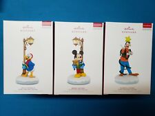 2018 Hallmark Keepsake Ornaments Disney Christmas Carolers full set of 3 Mickey
