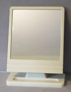 Mirror Roedens Merchandisers Ltd Vintage 70s Ivory Plastic Stand Tilt Mirror