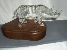 Godo Frabel Hand Blown Crystal Figurine Sculpture Rhinoceros Limited  5/150 RARE
