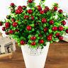 Kleine Beeren Künstliche Blumen Rote Staubblätter Hochzeit Weihnachtsdekors Heiß