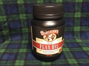 Barlean's Flax Oil Softgels 100 Softgels Hot-Flash Help Reduce Inflammation 2/22