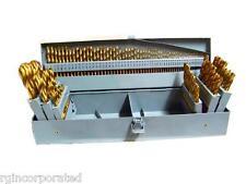 115 pcs Index Titanium Drill Bit Set Metal Steel Fractional Number and Letter
