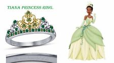 Round Cut Multi-Stone 14K Two-Tone Gold Plated Tiana Disney Princess Ring