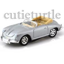 Welly Porsche 356 Convertible 1:60 Diecast Toy Car 58156D Silver