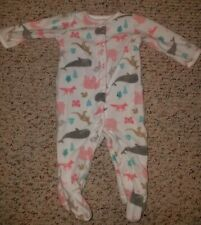 Carters Sleep N Play Footed Pajamas Baby Girl Size 6 Months