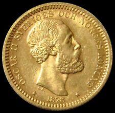 1878 EB GOLD SWEDEN 20 KRONOR 8.9606 GRAMS COIN HIGH GRADE
