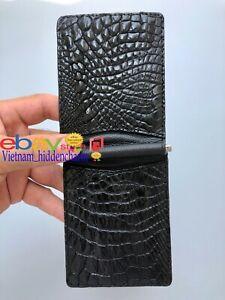 Men's Crocodile Money Clip- Genuine Alligator Leather/ Skin- Very Unique