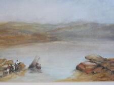 Antique genuine water colour by RA artist WL Leitch. Queen Victoria's art tutor.