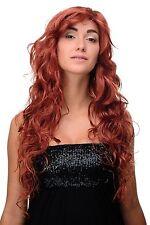 Lange Perücke Rot Dunkel-Kupferrot gewellte voluminöse Haare 70 cm 9669EL-135