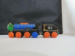 Genuine Thomas Friends Wooden Train Railroad - Patchwork Hiro & Tender