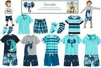 NWT Gymboree Blue Safari Boys Sets U-Pk  Sizes: 18-24m, 2T, 4T, Kid 4