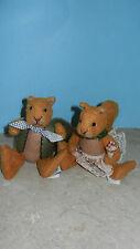 Ganz Cottage Collectibles Squirrels ~ Nutasha & Nutcracker ~ Stuffed Plush Set