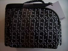 Calvin Klein Handbag Carry Cosmetic Bundle Zip-Top Tote Travel 2 Bags Bk&Wt NWT