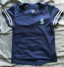 Seattle Mariners Baseball Youth Boys Blue Jersey Athletic Top Mlb Xl 14 16 Shirt