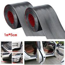 2X 5cm*1m Car Styling Door Sill Protector Strip Carbon Fiber Front Bumper Strips
