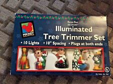 Mickey Mouse + Disney Characters EZ Light Set Christmas Illuminated Tree Trimmer