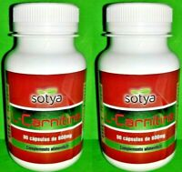 L-Carnitina Lcarnitina 500 mg 2x90 capsulas SOTYA Transforma grasa en energia