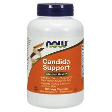 NOW Foods Candida Clear 180 Veg Capsules   Caprylic Acid Oregano Oil Olive Leaf
