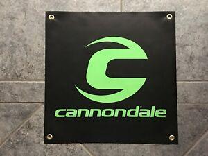 Cannondale banner sign shop wall garage mountain bike biking cycling trail MTB