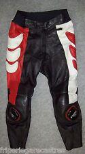 VINTAGE Pantalon CUIR Moto LOOKWELL, Taille 48 ----- (PMH_038)
