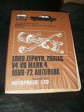 FORD Zephyr /& Zodiac MARK 2 1956-1962 Manuale di Officina