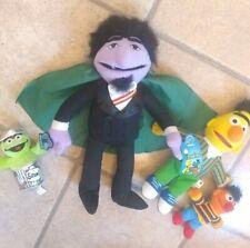 "Sesame Street The Count Ernie Bert Oscar Plush stuffed Applause 13"" vintage lot"