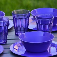 Cambridge Plate, Bowl and Tumbler Dinnerware 12 Piece Set Purple