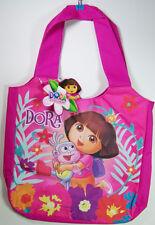 "New Dora the Explorer  & Boots 13"" Canvas Tote Shoulder Bag Purse Nickelodeon"