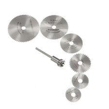 7PCS HSS Saw Blade Discs Mandrel 22mm-50mm Circular Wood Cutting For Rotary Tool