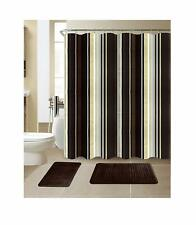 Exclusive Decorative Shower Curtain and Memory Foam Rugs Set for Bathroom