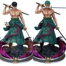 One Piece Santōryū Two-Headed Roronoa Zoro Figure Statue Juguete Collection New