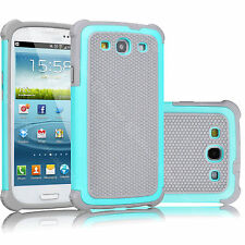 For Samsung Galaxy S3 S III Phone Rugged Rubber Hybrid Hard New Shell Case Cover