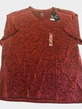 ID Ideology New V-Neck Mesh Back Performance T-Shirt Red Men's Size 3XL