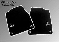 Black velours floor mats for Lotus Elan M100 1989-1992 Logo gray