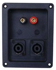 Morsettiera 2 poli con 2 speakon per casse acustiche SP145