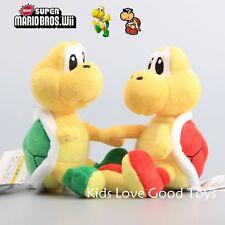 2X Super Mario Bros. Koopa Troopa Turtle Plush Doll Soft Stuffed Toy Figure 6''