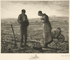 Jean-Francois Millet Reproduction: The Angelus (L'Angelus) - Fine Art Print