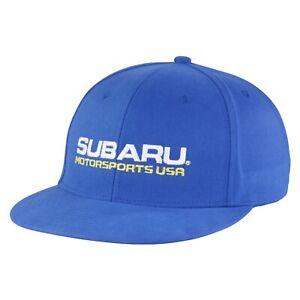 Genuine Subaru Motorsports USA Rally Flat Visor Cap Hat Impreza STI WRX Racing
